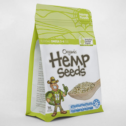 Hemp Foods Australia Organic Hulled Hemp Seeds 1kg VALUE BULK BUY