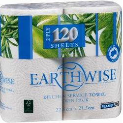 Earthwise Kitchen Paper Towel 2 Rolls x 10 Pack VALUE BULK BUY