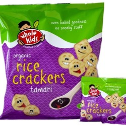 Whole Kids Rice Crackers Tamari 4 packs 60g