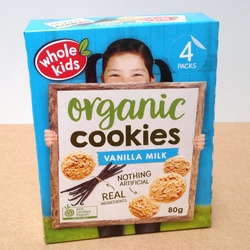Whole Kids Cookies Vanilla Milk 4 pack 80g