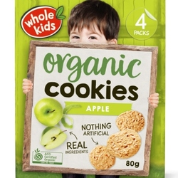 Whole Kids Cookies Apple 4 pack (80g)
