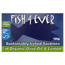 Fish 4 Ever Sardines in Olive Oil & Lemon 120g x 10 VALUE BULK BUY