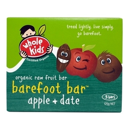 Whole Kids Barefoot Bar Apple & Date 6 packs VALUE BULK BUY