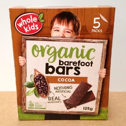 Whole Kids Barefoot Bar Cocoa 6 packs VALUE BULK BUY