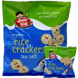 Whole Kids Rice Crackers Sea Salt VALUE BULK BUY 16 packs