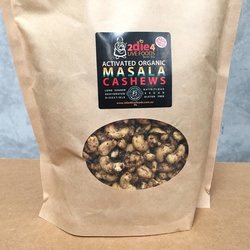 2Die4 Activated Organic Cashews Masala 1kg VALUE BULK BUY