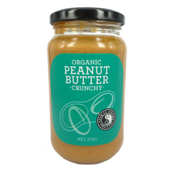 Spiral Foods Organic Peanut Butter Crunchy 375g x 6 VALUE BULK BUY