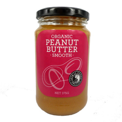 Spiral Foods Organic Peanut Butter Smooth 375g x 6 VALUE BULK BUY