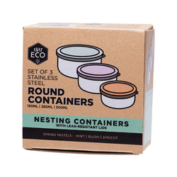 Ever Eco Round Containers (set of 3)