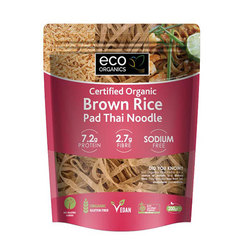 Eco Organic Noodles Brown Rice Pad Thai 200g x 6pk VALUE BULK BUY