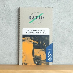 Ratio Chocolate Macadamia & lemon Myrtle 70g