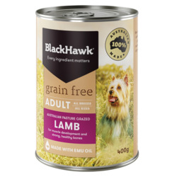 Black Hawk Grain Free Lamb Dog Food 400g x 12 VALUE BULK BUY