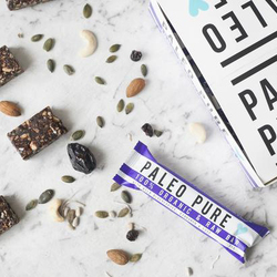 Paleo Pure Organic Raw Bars Blueberry & Cinnamon 12x45g VALUE BULK BUY