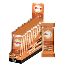 Essential Hemp Organic Snack Bars Salted Caramel 12 x45g VALUE BULK BUY