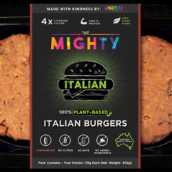 Unreal Co Mighty Burger Italian (Pack of 4) 452g