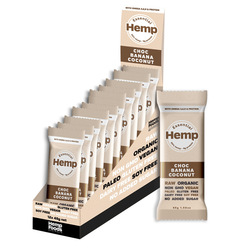 Essential Hemp Organic Snack Bars Choc Banana Coconut 12x45g VALUE BULK BUY