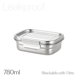 Avanti Dry Cell Stainless Steel Leakproof Food Container 780ml