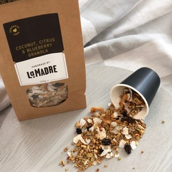 La Madre Granola Coconut, Citrus & Blueberry 450g