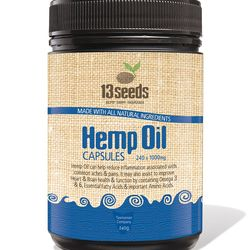 13 Seeds Hemp Oil Capsules 1000mg x 240