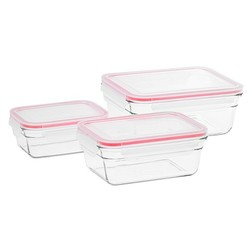 Glasslock Ovensafe Glass Container Set of 3