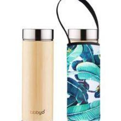 BBBYO Tea Flask Bamboo 500ml & Carry Cover