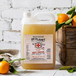Dr Planet Castile Soap Concentrate Sweet Orange & Litsea 5L Refill BULK