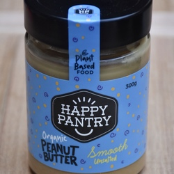 Happy Pantry Organic Peanut Butter Smooth Unsalted 300g