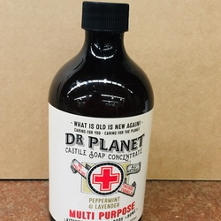 Dr Planet Castile Soap Concentrate Peppermint Lavender - 500ml REFILL Screw Top