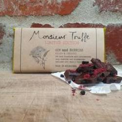 Monsieur Truffe Limited Edition Bar Gin & Berries 80g