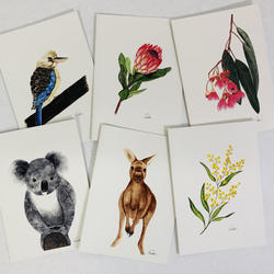 Sisterworks Greeting Cards Australian Theme (6 per pack)