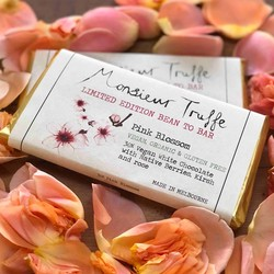 Monsieur Truffe Limited Edition Bean to Bar Pink Blossom  95g