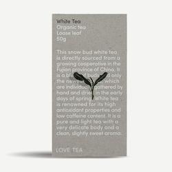 LOVE TEA Organic White Tea Loose Leaf 50g