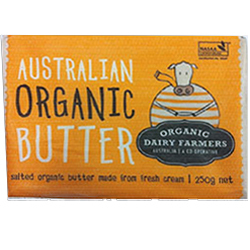 True Organics Butter Salted & Grass Fed - 250g x 12 VALUE BULK BUY