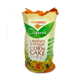 Pure Harvest Corn Cakes Linseed & Sesame 150g
